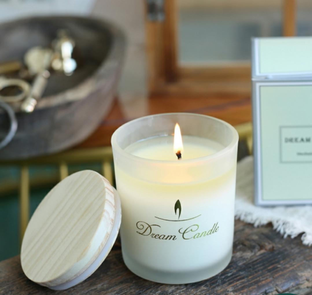 Ароматическая свеча эфирное нефть ароматизированное стекло бытовое стекло бытовое успокоение сна очищают воздушный аромат соевый кокосовый воск бездымки