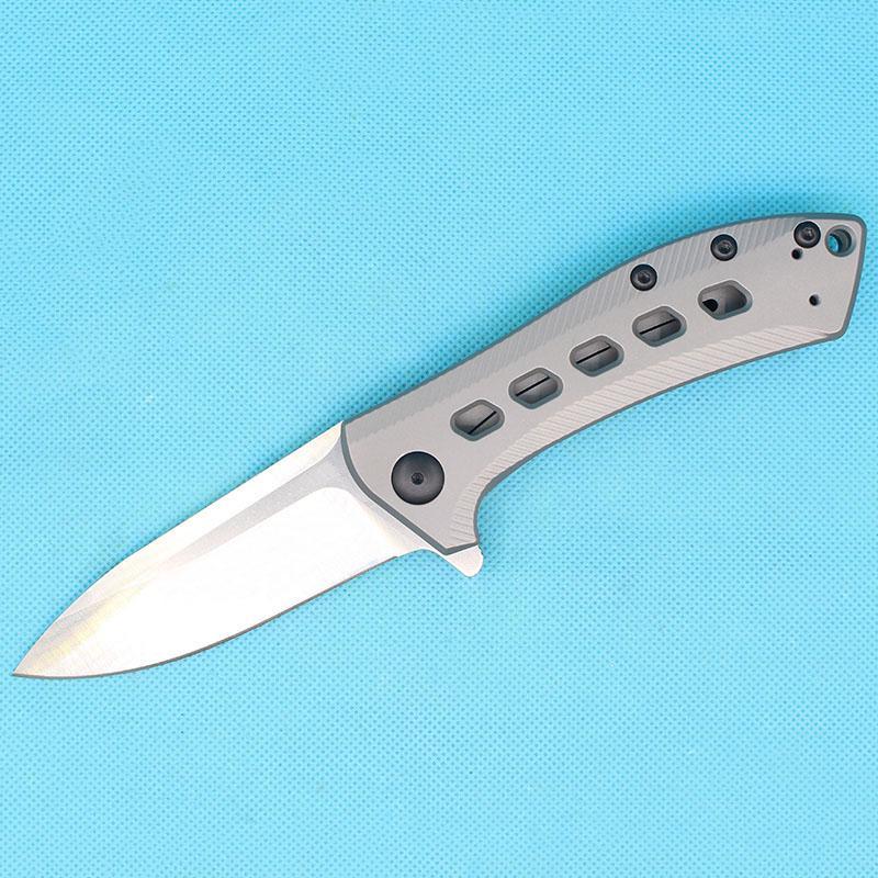 Nuovo arrivo High End 0801 Flipper Knife M390 SATIN BLADE CNC TC4 Titanium Ley Maniglia con impugnatura a sfera Cuscinetti EDC con scatola al minuto