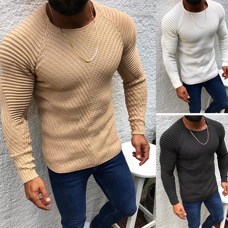 2020 Yeni Sonbahar Kış Kazak Kazak Erkekler O-Boyun Katı Renk Uzun Kollu Triko Ince Erkek Kazak Çekin Erkek Giyim My279