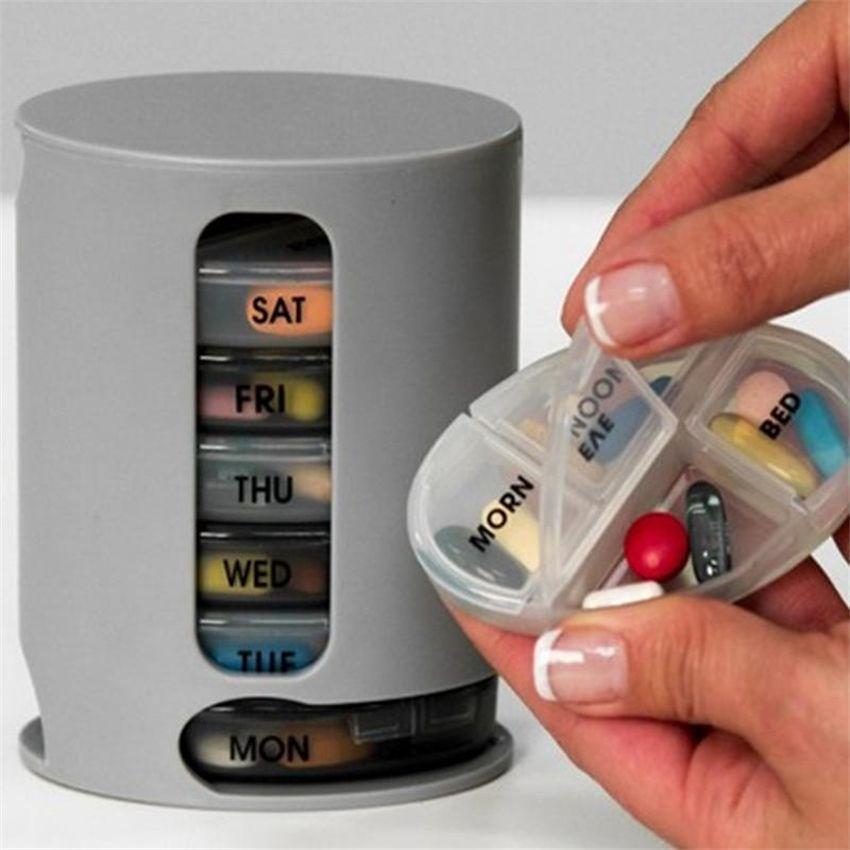 Caso di stoccaggio della pillola dell'organizzatore della pillola Caso di immagazzinazione Compact Organizzare la scatola di immagazzinamento della scatola di immagazzinamento delle mini pillole della scatola di immagazzinaggio della medicina dhl DHL Fast Offer