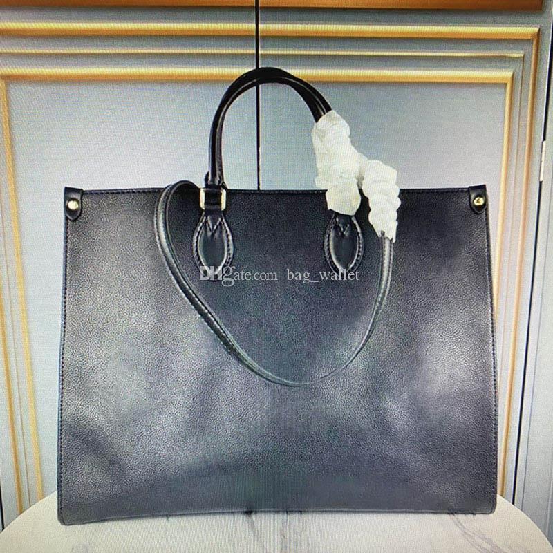 OnThego Handle Tote Luxurys Dyeing Moda Mujeres Genuine Cuero Bolsa de Compras Lady Toron Doble Diseñadores Hombro Bolsos Casuales Bolsos LKJC