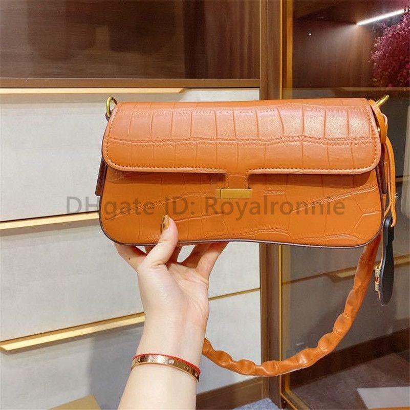 2021 Chaud luxe Designer H Sacs de mode Sacs à bandoulière intérieure Thread de filets Allligator Sacs à bandoulière métallique