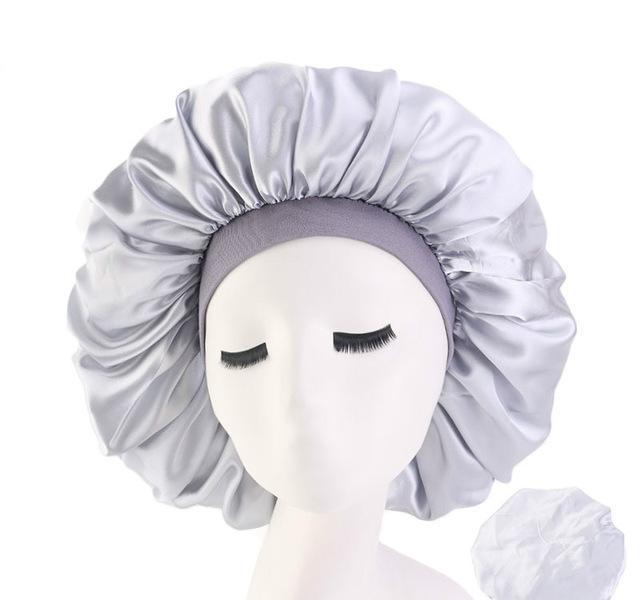 High Elasticity Wide-brimmed Women Turban Hat Large Print Silk Bonnet Sleep Cap Bonnet Women Turban Hat For Hair Accessories wmtjZtY