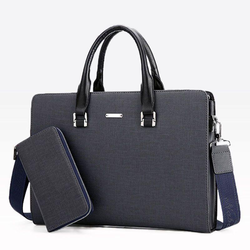 HBP Business Men Briefcase Casual 14 inch Travel Laptop for Man Shoulder Messenger Bag Male Office Handbag Waterproof Hand Bags Q0112