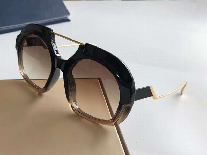Black Crystal Shades Brown / Brown Donne Occhiali da sole Sole Box Sole Occhiali DA 0316 Ombrettato con occhiali da sole Shine Fashion Sonnenbrille DTPKF