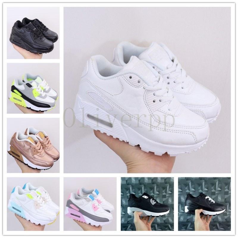 رخيصة بيع أطفال أحذية رياضيةnike air max airmax 90  presto 90 الأحذية الأطفال الرياضة chaussures صب الشين المدربين الرضع الفتيات الفتيان الاحذية حجم 28-35