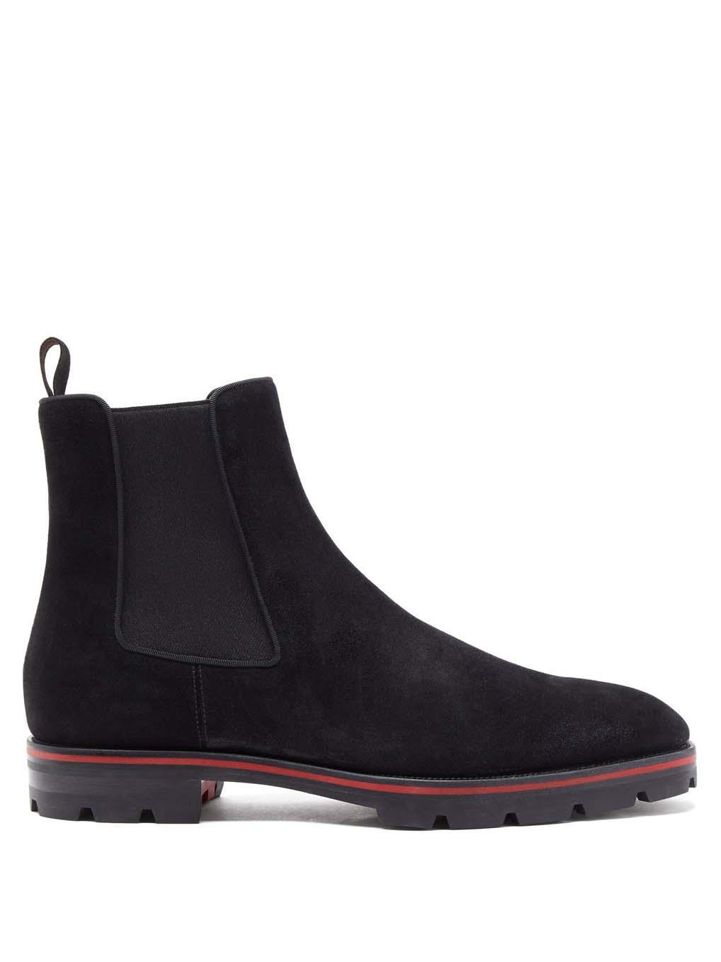 الشهيرة لا المسامير الشتاء الرجال الأحمر أسفل الأحذية البطيخ التمهيد ارتفع الكاحل الأحذية الجلد المدبوغ الجلود سميكة باطن ريد ماركات الرجال الأحذية حزب اللباس هدية