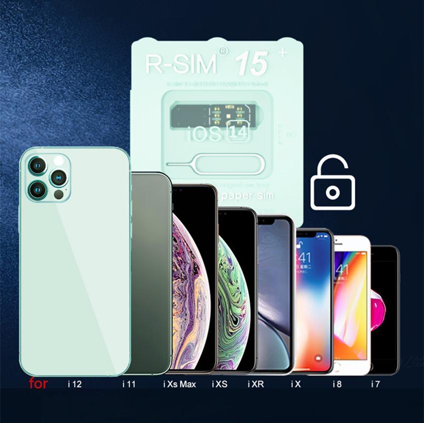 Mais novo RSIM15 Plus para iOS 14 Desbloquear cartão R sim 15 RSIM R-sim15 Desbloquear cartão ios7 13 Dual CPU Atualizado Auto Desbloqueio para iPhone Universal