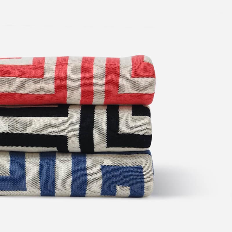 Leradoresoft algodón backline print manta adultos ganchillo hilo hilo Mantas tejidas colchas de dormir Manta ponderada 150 * 180cm1