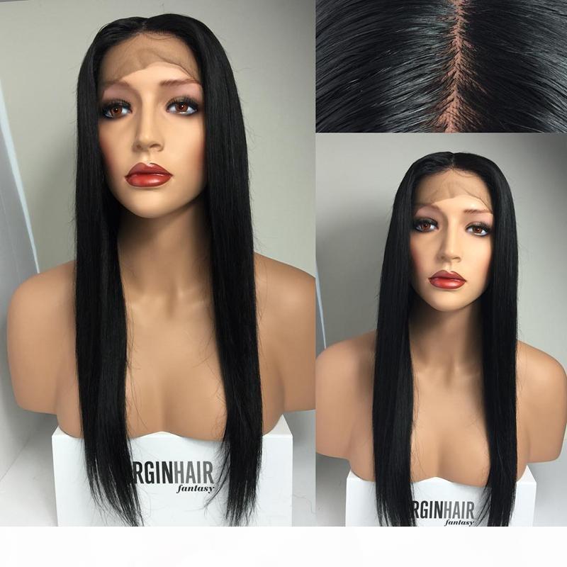7A Dentelle pleine dentelle humaine perruques cheveux brésiliens dentelle de dentelle frontale perruques de lace de cheveux humains pour femmes noires