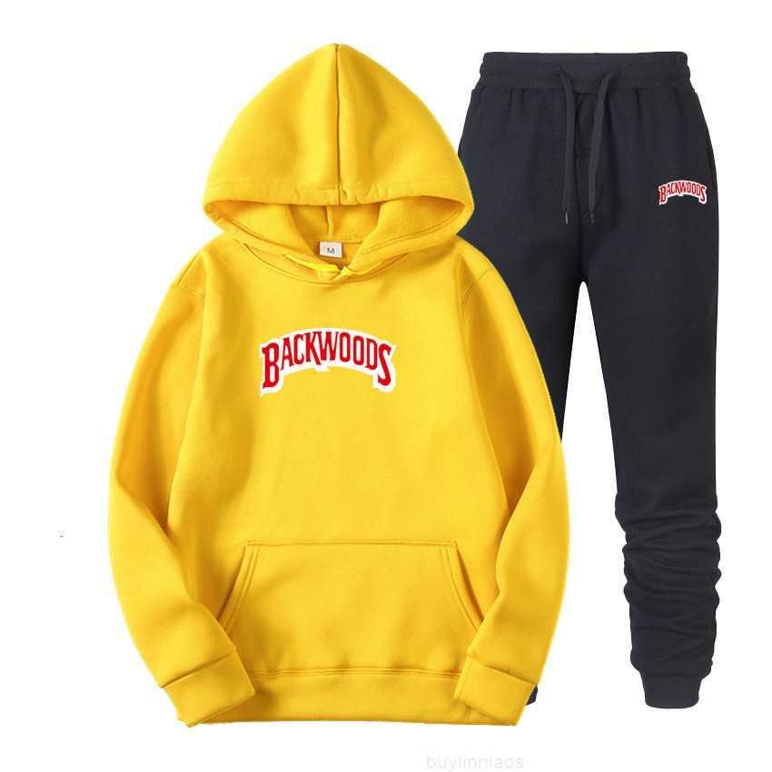 Backwoods Outono Nova Primavera Impresso Sportswear e Homens Hip Hop Hoodie Sweater Suit1