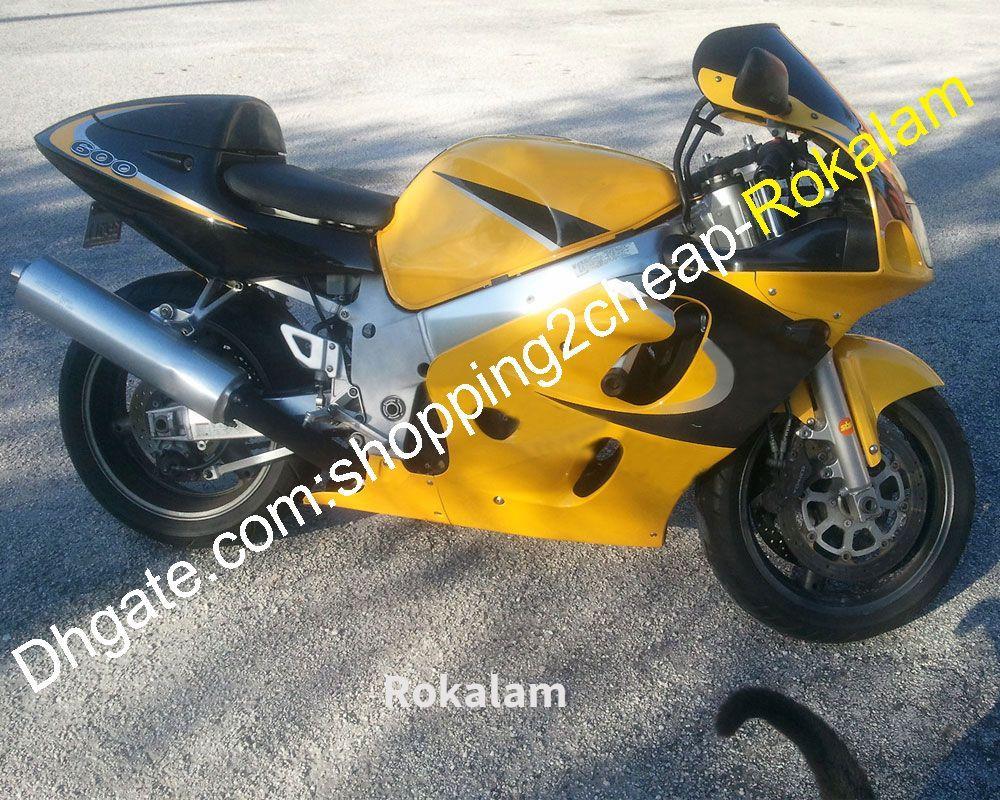 Suzuki GSXR600 GSXR750 GSXR 600 750 1996 1997 1999 1999 Sarı Siyah Cowing için Özel Motosiklet