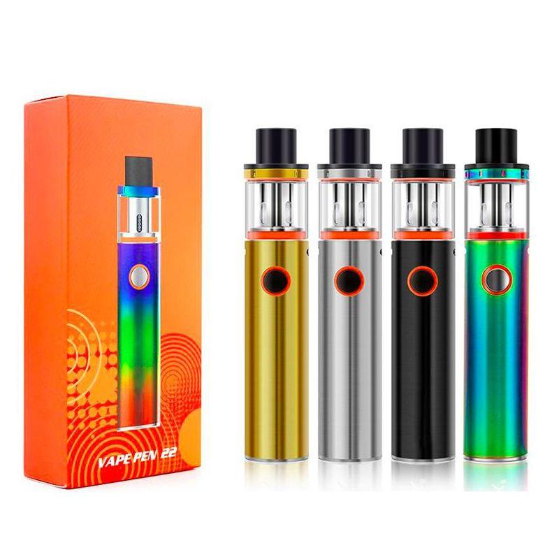 Vape Pen 22 Kit Starter Kits con batería de 1650mAh Baterías de batería de batería Baterías inteligentes VS NORD TFV12 Stick V9 Kit DHL
