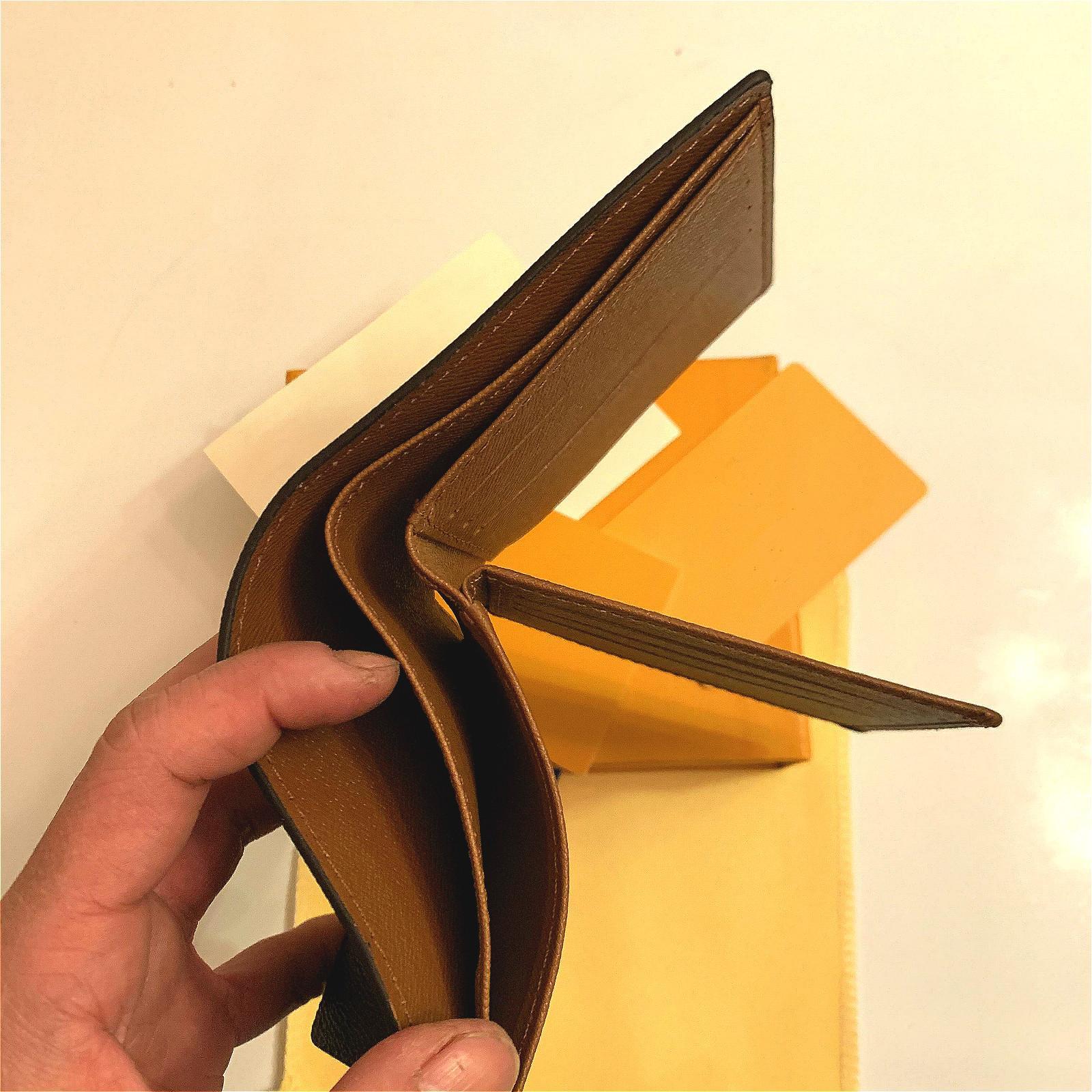 Porte-cartes design portefeuille portefeuilles courtes portefeuille véritable doublure en cuir marron lettre chèque toile multifonction monnaie portefeuille portefeuille de luxe 78