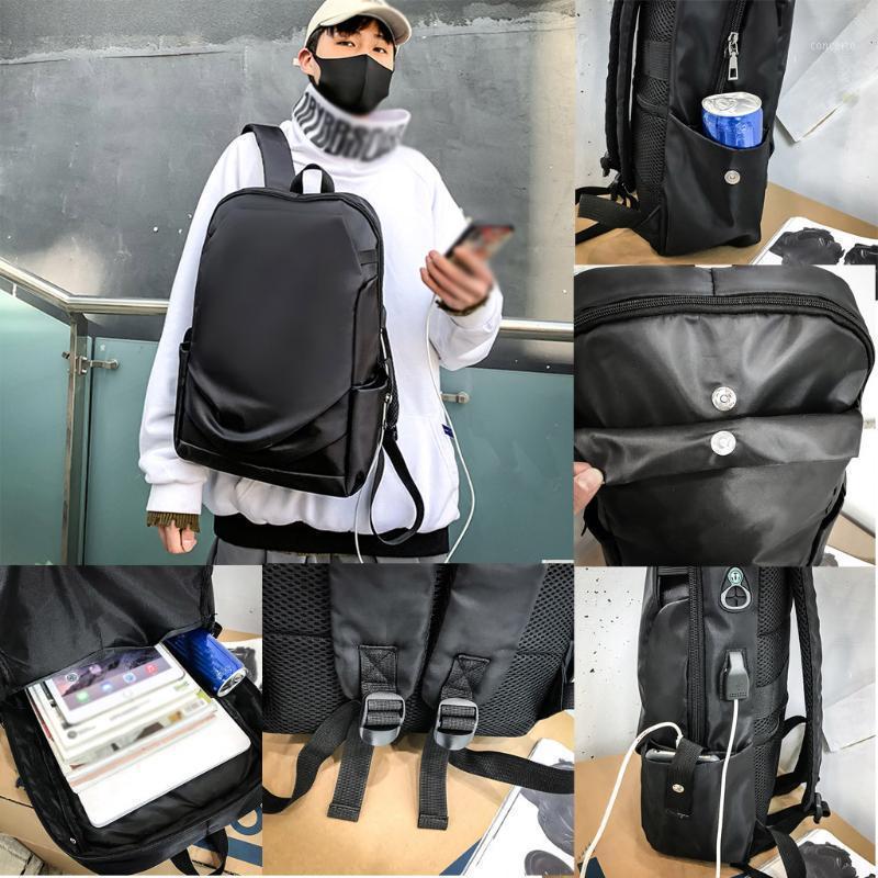 Saco de moda # G201 Saco grande Capacidade do estudante do estudante USB Saco Neutral Socket Socket Mochila de viagem com À Prova D 'Água ao ar livre Abrid