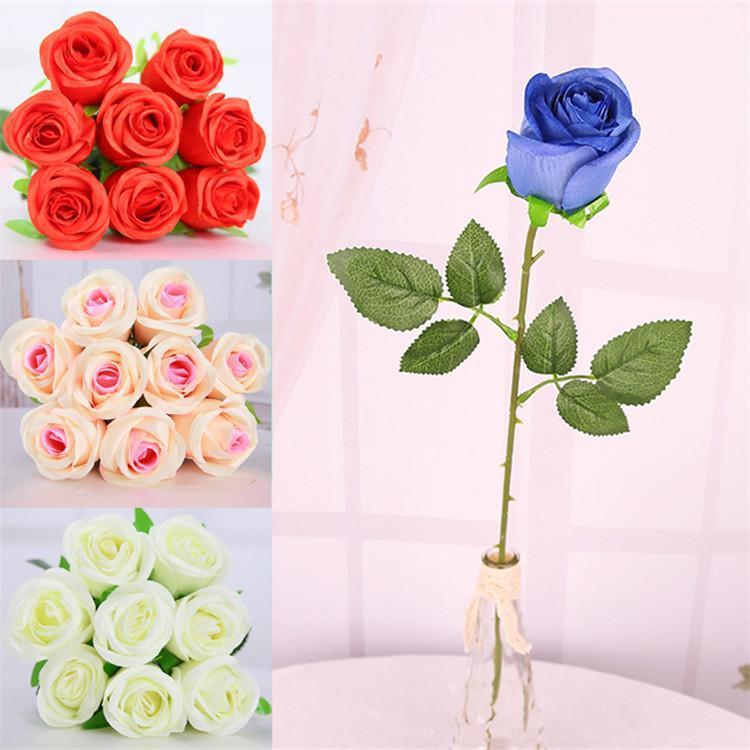 Heißer verkauf 1 stück rose künstliche seide blumen upscale faux seide blume rosen Wohnkultur für Hochzeitsfeier oder Geburtstagsdekoration