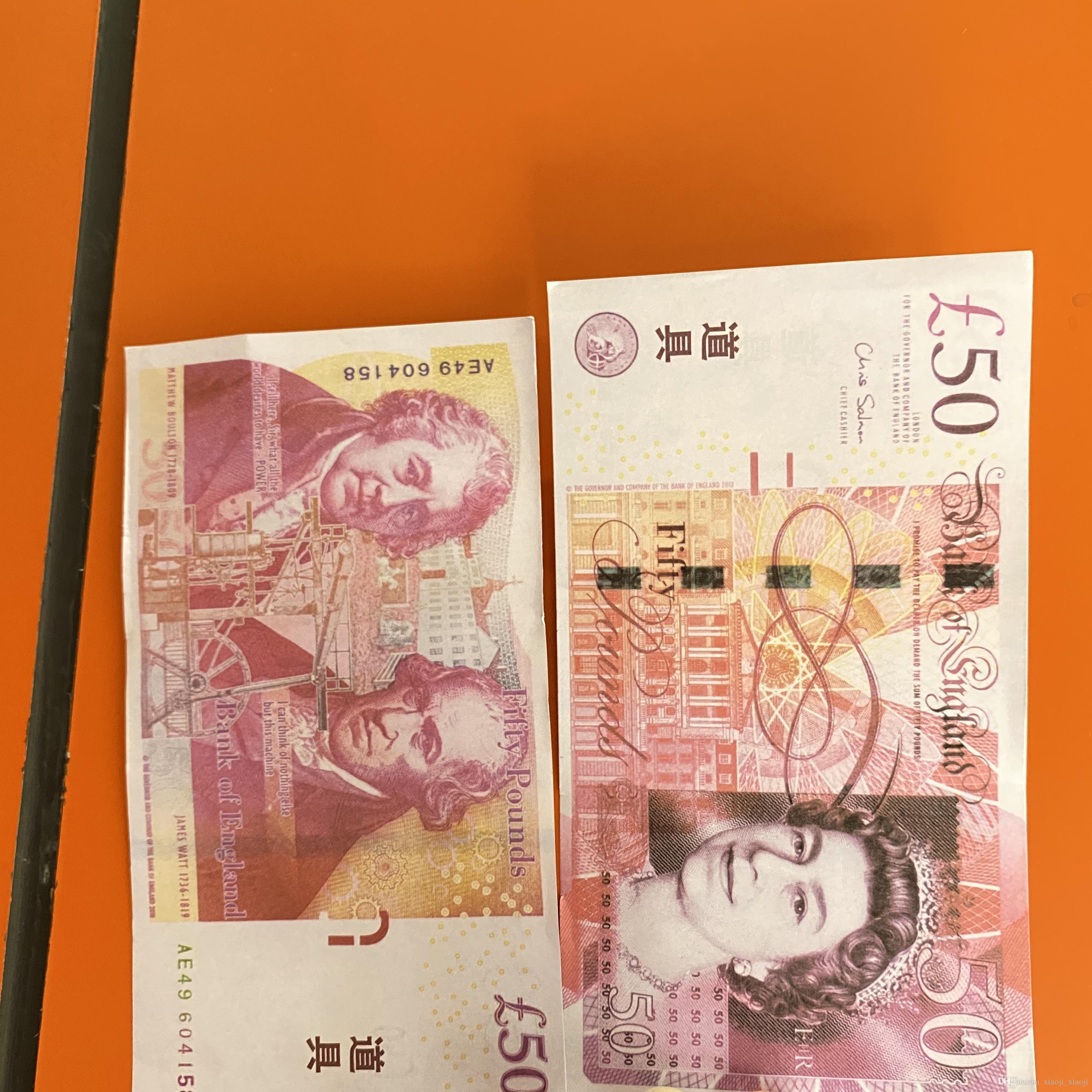 Faux 20 Play Pound Money Game Película Billet Colección Dinero y Wholesale Copia Regalos Prop 08 Hxfls