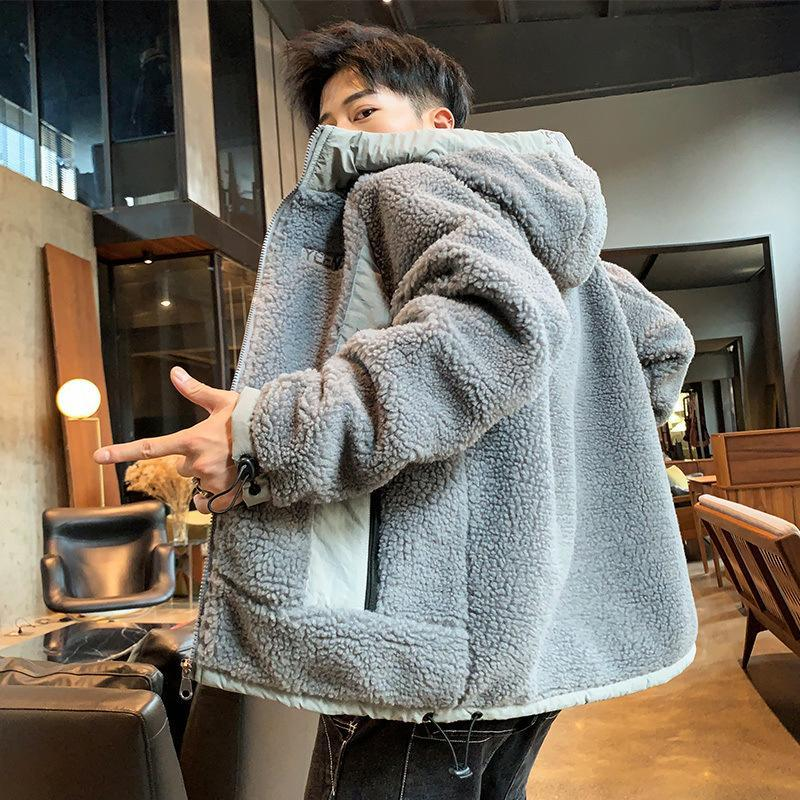 Men's Down & Parkas Boutique 2021 Lambs Wool Cotton-padded Clothes Man With Thick Coat To Keep Warm Handsome Young Men Hooded Jacket