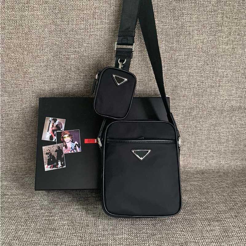 Mode design de luxe Sac en cuir pour hommes Logo Sac à épaules Sac à épaules Zipper Nylon Matériau Mens Porte-documents Haute Qualité