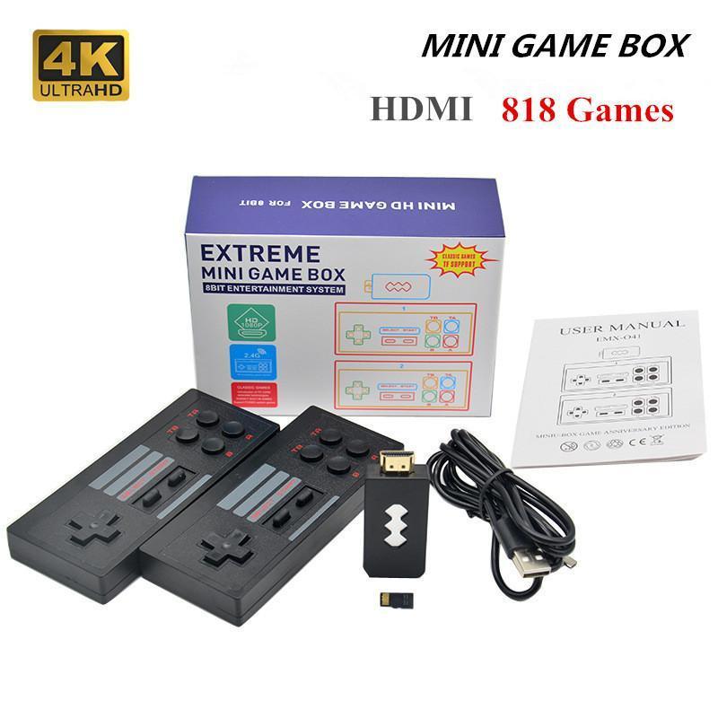 Yeni AV / 4K inşa 620/818 retro konsol kablosuz denetleyici AV / çıkış mini oyun kutusu