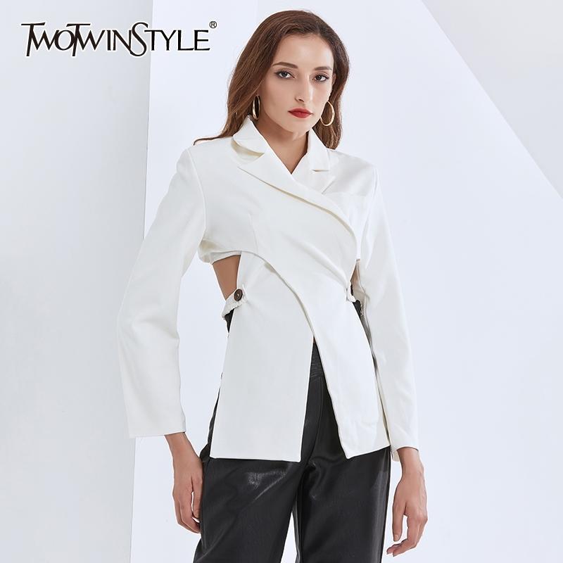 Пустые Blazer для женщин, воротник с длинным рукавом с длинным рукавом с длинным рукавом.