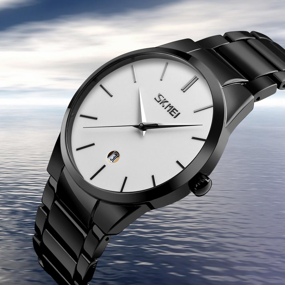 Skmei Watch for Men Business Luxury Top Brand Analog Watches Fecha a prueba de agua Relojes de pulsera de cuarzo simple Male Relogio masculino