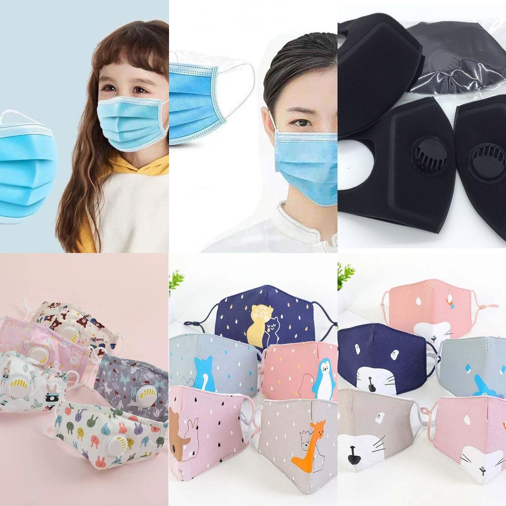 Waschbare Entlüftungsfilter Pure Maske Gesicht Baumwolle Ventil Wiederverwendbare Erwachsene Kinder Staubdichte SMO PJ8B
