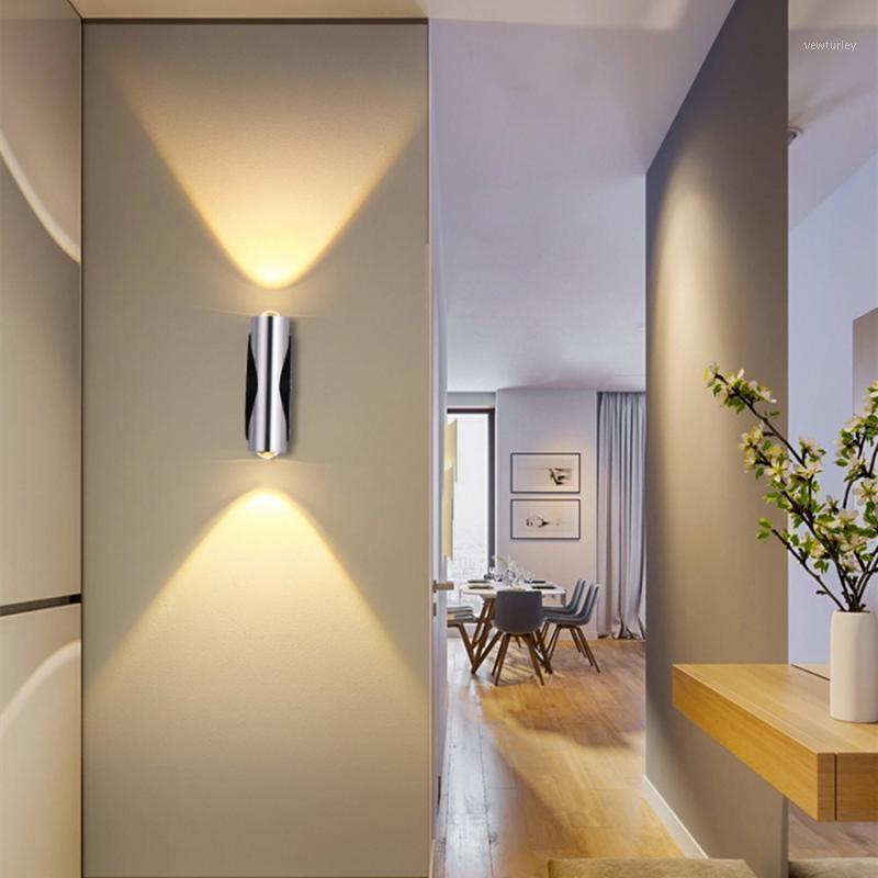 Lâmpada moderna LED Wall Light 2W 4W 6W Tubo de Alumínio Sconce Up e Luminária Luminária Luminária Indoor Home Decor Lamp1