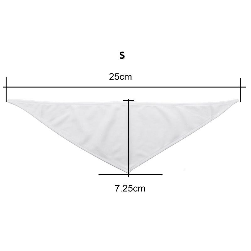 White DIY Pet Burp Clothes Sublimation Blank Multi Size Bandana Dog Cat Accessories Triangular Scarf Home Outdoor Fashion Hot Sale 4 9ex G2