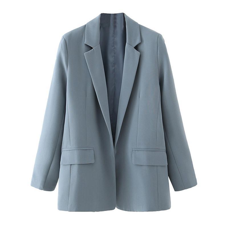 BLSQR 2021 Blazer Blazer Blazer Donne Autunno Suit Blazer Pocket Design Casual Giacche da donna UFFICIO UFFICIO SCADUTA Vestito Giacche
