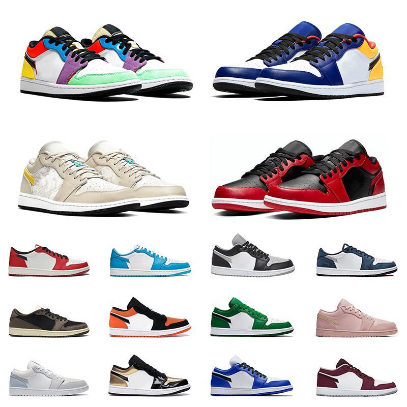 Jordans Air jordan 1 Low 1s Basketball shoes New Arrivals 1 Shadow Paris UNC pine green Chicago hyper royal Outdoor Sports Sneakers para hombre entrenadores Tamaño 36-45