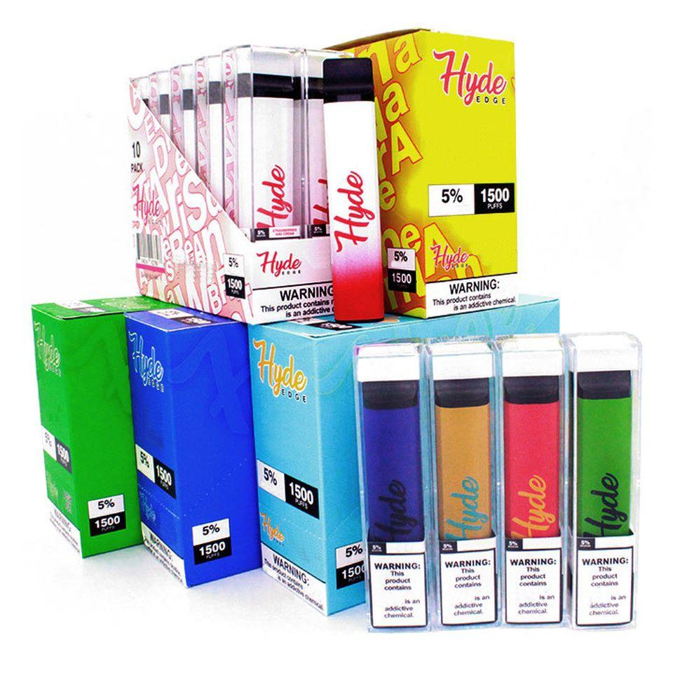 Hyde EDGE 1500 Puffs Disposable Vape Electronic Cigarette With 1100mAh Battery 6.0ml Pod Multi Colors Quality Vapors