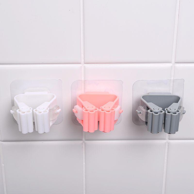 جدار شنت ممسحة المنظم حامل فرشاة مكنسة شماعات المنزل تخزين رف الحمام شفط شنقا الأنبوب السنانير المنزلية