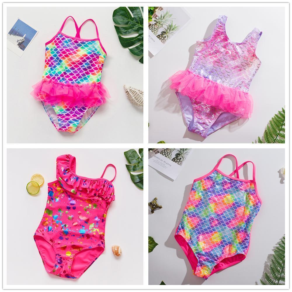 Nuevo 2020 niñas 1 ~ 14 años Chica Batsuit One Piece Batmode High Quality Natines Pack Beachwear-ST9030MIX