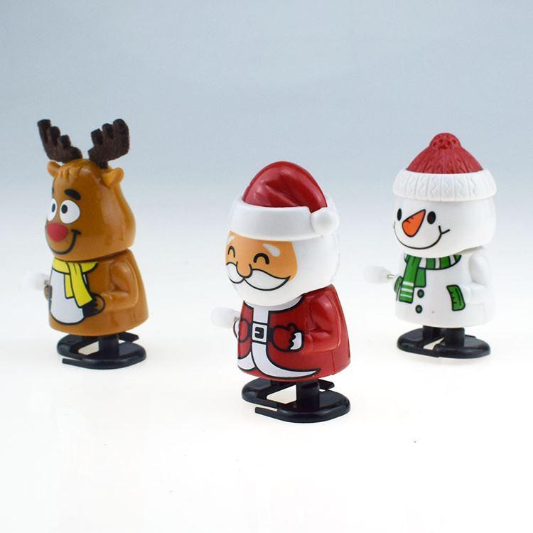 Brinquedos de Natal quente Santa Claus Snowman Brinquedos Adorável Crianças Jump Presente Dos Desenhos Animados Decorações de Natal 100 pcs T2I51632