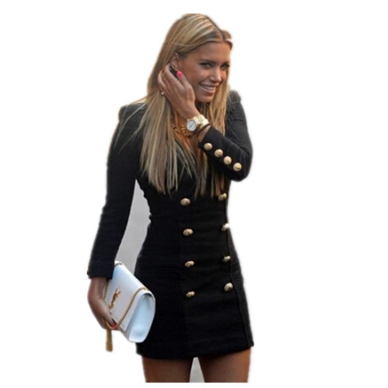 Kruvaze Bayan Günlük Elbiseler Sonbahar Kış Uzun Kollu Kısa Tasarımcı Elbiseler Casual Ince Bayan Elbiseler