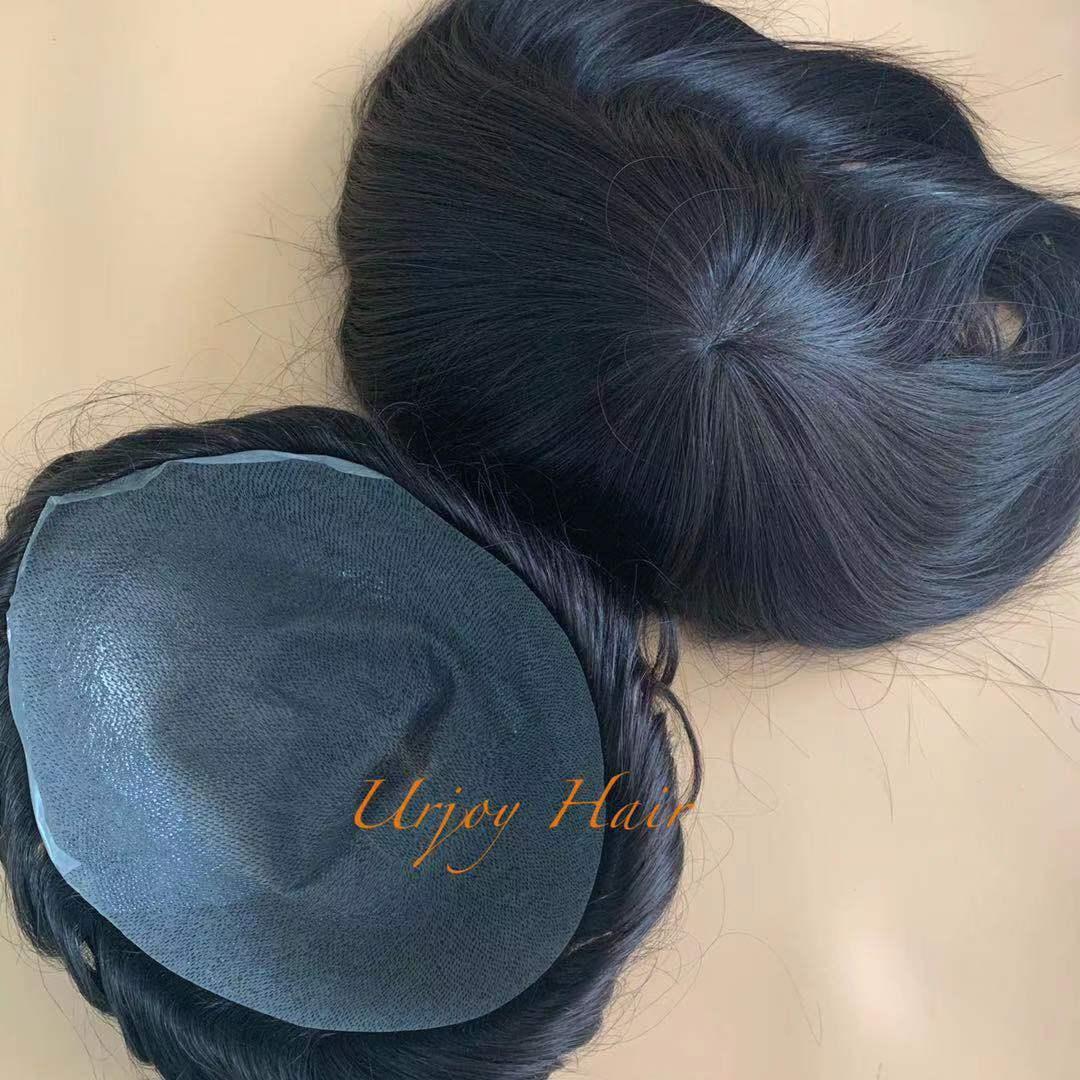 Без провала лучших волос качества голливудских натуральных реальных реми мужские парики человеческие волосы волосы волосы мужчины Topeee