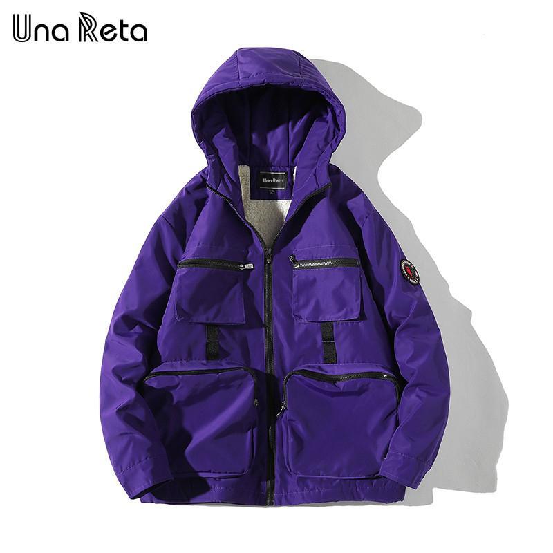 Una Reta зимняя куртка пальто мужчины новая повседневная ветровка куртки мужские парку плюс размер хип-хоп теплые лямбвульские пальто мужские улицы 201119