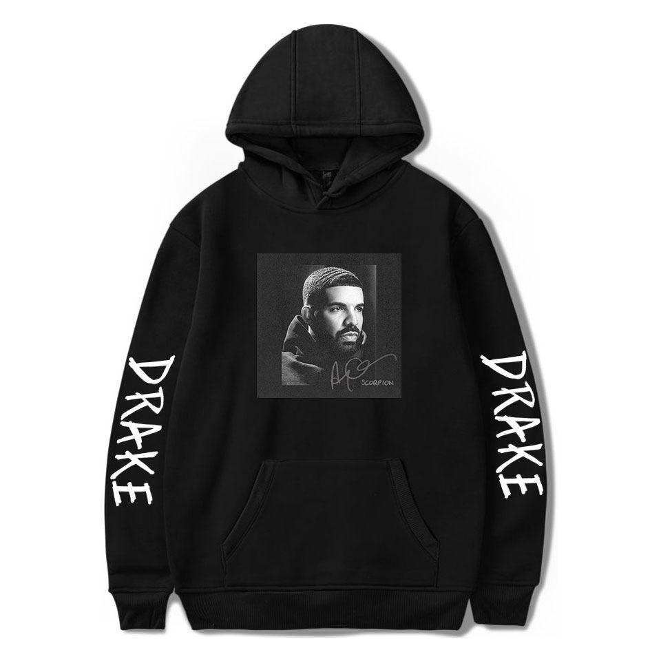 Hip Hop Rapper Drake Женщины / Мужские Толстовки Толстовки Устровленные Уличная Одежда Harajuku Повседневная Пуловер Капюшона Куртка Мужской Повседневная Спортивная одежда