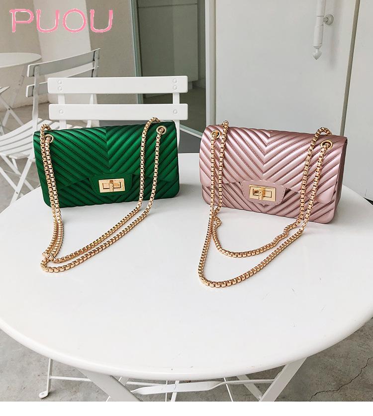 Сумки на ремне Женщины женские сумки из ПВХ роскошные стеганые женские сумки мессенджер пакет старинные дизайнерская цепь желейная сумка Mepta