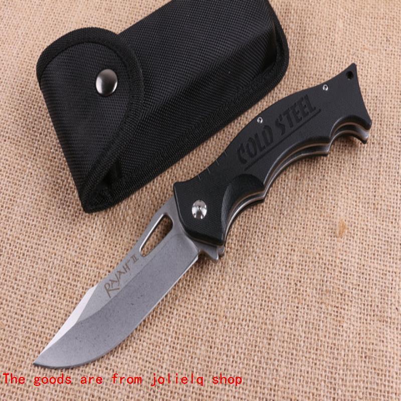 Messer 440c Outdoor Blade Stahl Falten Rajah-II Kalt G10 Griff Camping Taktische Messer Wandern Survival Messer Bank BM 940 550 551 Qynf V7LR