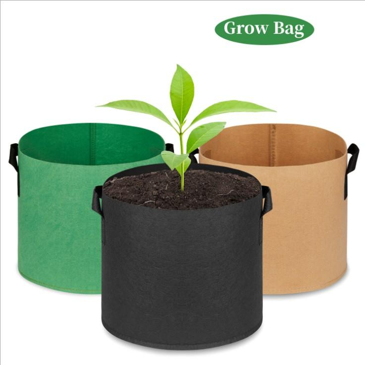 Grow Bag Grow Bags for Plants Planting Bag Wholesale Non-woven Fabric Pots Plant Pouch Root Container Flower/Vegetable Growing Pots