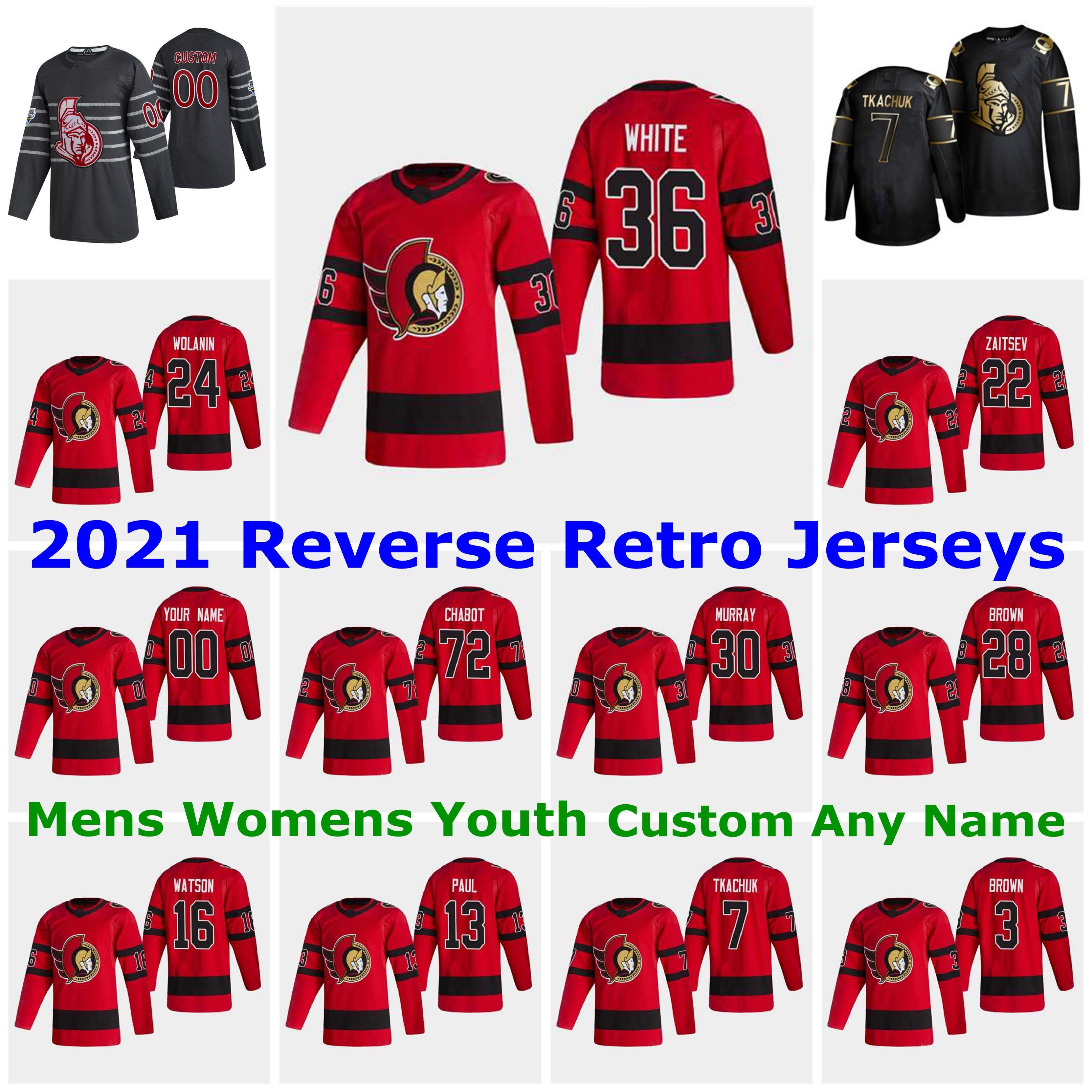 Ottawa Senators 2021 Reverse Retro Jerseys 90 Vladislav Namestnikov Jersey 44 Jean-Gabriel Pageau 13 Nick Paul 9 Bobby Ryan Custom Stitched