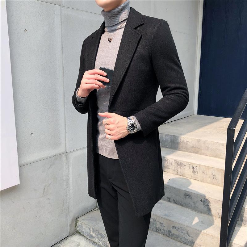 Мужская шерстяная смесь шерстяных пальто в осени / зима 2021