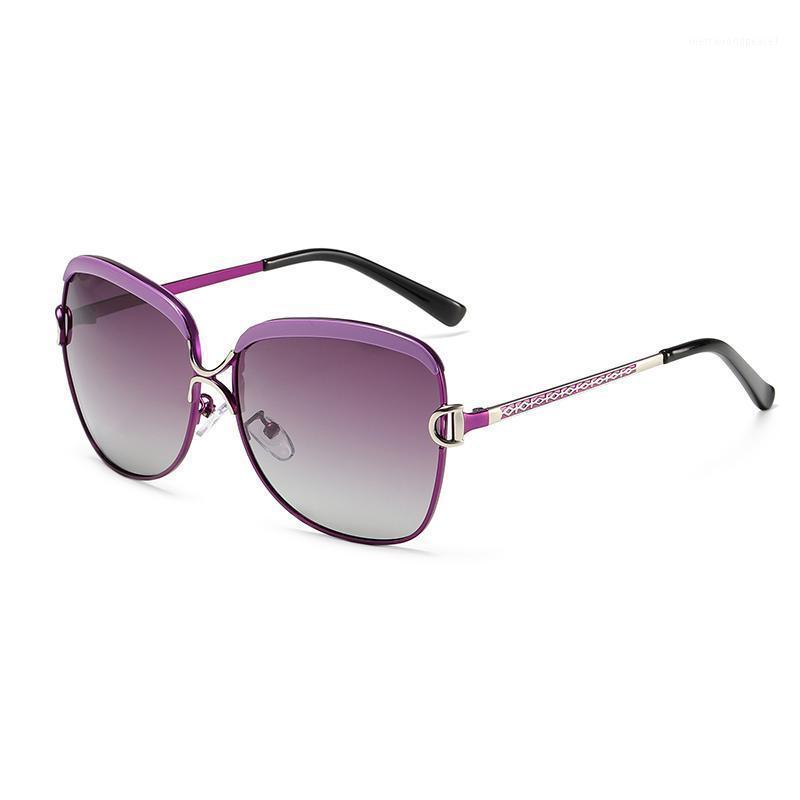2020 Frauen Design Sonnenbrille Gradient Polarisierte Linsen Runder Schmetterling 8702 UV400 Schutz Eyewear1