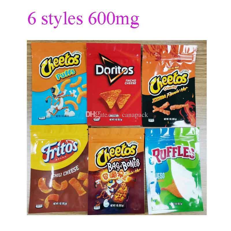 600 мг Cheetos Maylar Bag Gummy Edibles Fritos Doritos Cheetos Сумка костных оборками Эдиклы Фламин горячие лекарственные