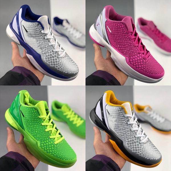 Con scatola 2020 nuovi 6 scarpe da pallacanestro ProTro VI Mens rosa verde grigio 6s Erica var trainer sneakers all'aperto Des Chaussures