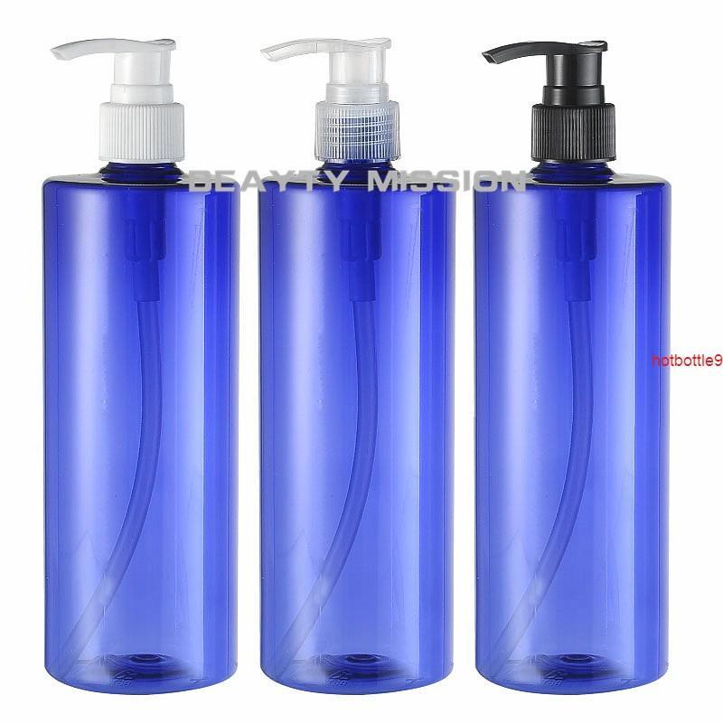 12 stücke 500 ml blaue lotion pump shampoo flaschenbehälter für kosmetische verpackung, hochwertiges haustier mit flüssigem seifen dispenserg fartit