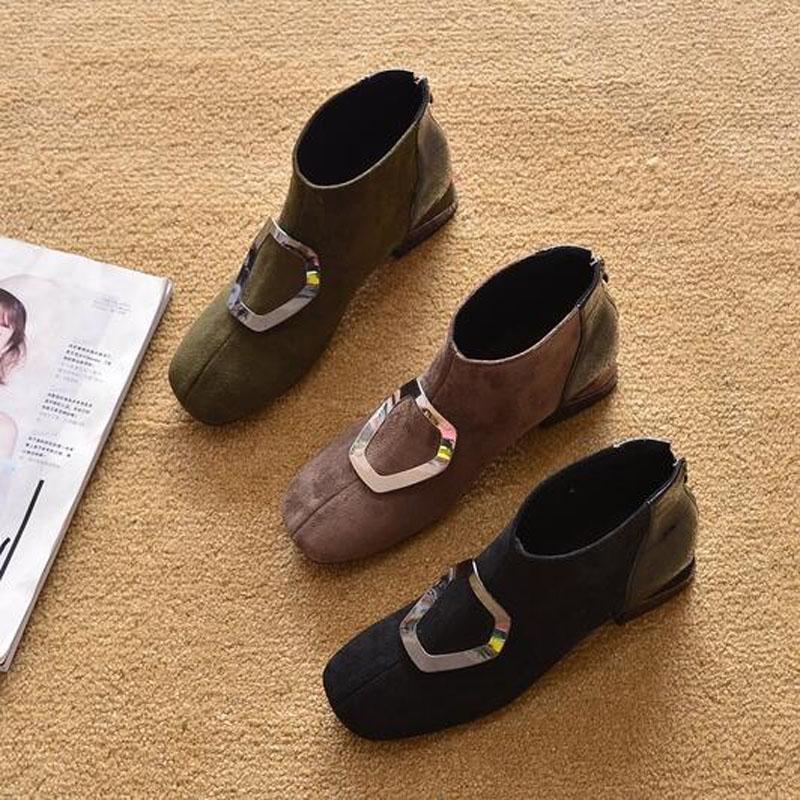 Le donne Martin Stivali Primavera Autunno 2020 Stivali Donna Inghilterra Donne Stivali Piazza tacco dello stivale Tbj-518-1