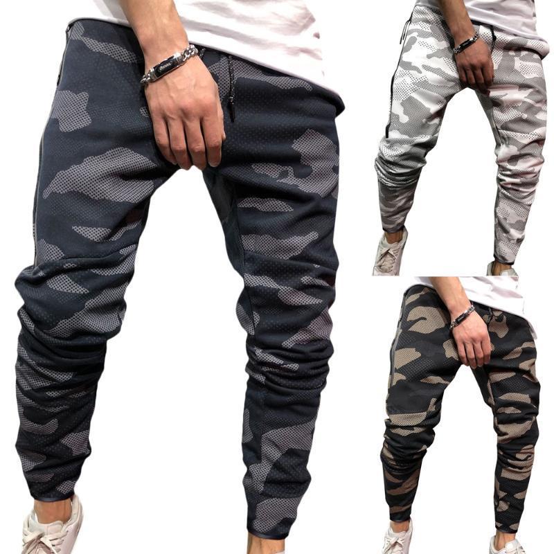 2020 Man calças de suor Novas FashionMens Casual Calças Sports Calças Camuflagem Camo cintura elástica aptidão Jogger Harem